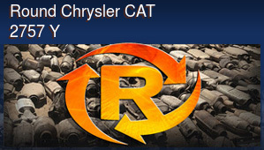 Round Chrysler CAT 2757 Y