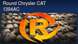 Round Chrysler CAT 1394AC