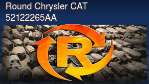 Round Chrysler CAT 52122265AA