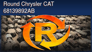 Round Chrysler CAT 68139892AB