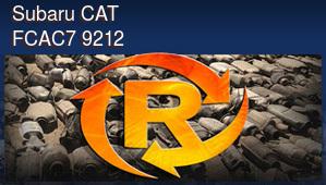 Subaru CAT FCAC7 9212