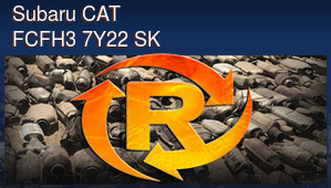 Subaru CAT FCFH3 7Y22 SK