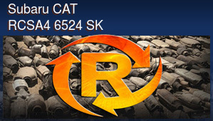 Subaru CAT RCSA4 6524 SK